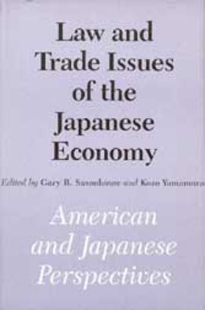 Law and Trade Issues of the Japanese Economy book image
