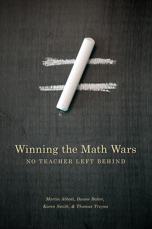 Winning the Math Wars book image